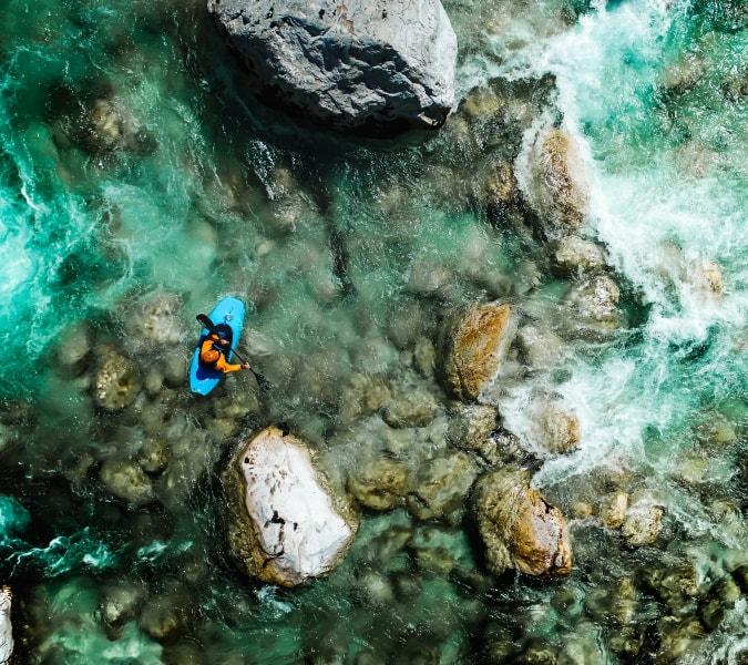Kayaking Through Rapids