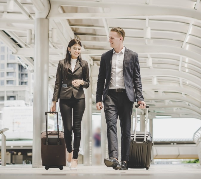 Travellers With Luggage